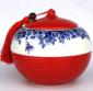 �t瓷茶�~罐,景德�茶�~罐,密封罐批�l,定做茶�~罐